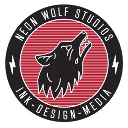 Neon Wolf Tattoo Studio Logo
