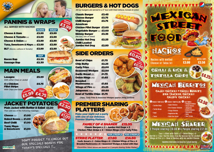 New Menu We have Great Food and Drink Promotions On Site at All Times...