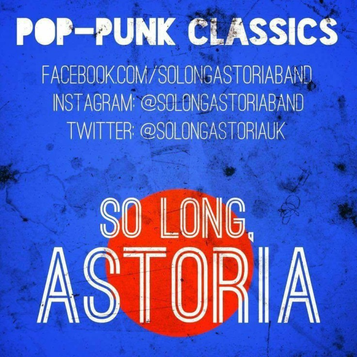 Pop punk from So long Astoria