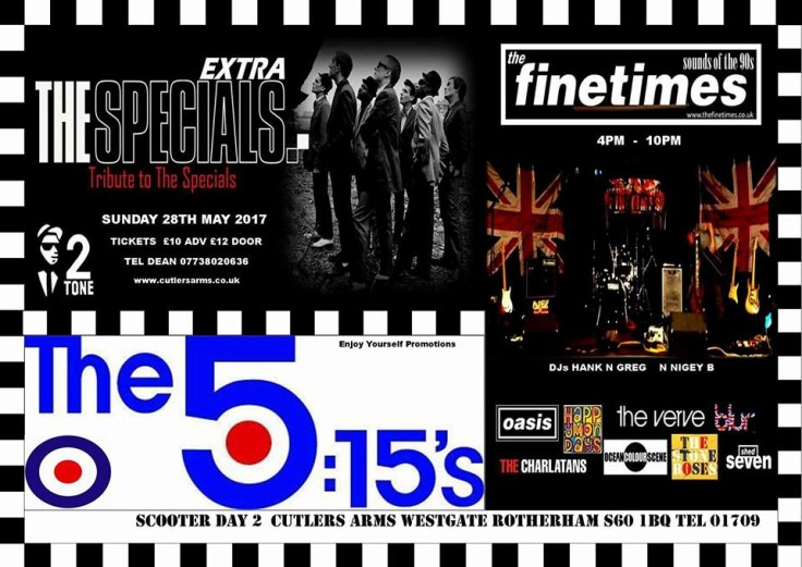 THE EXTRA SPECIALS. THE FINETIMES. THE 5.15's @ CUTLERS ARMS ROTHERHAM