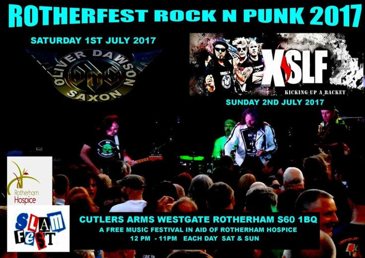 ODS SAXON HEADLINE SATURDAY ROTHERHAM HOSPICE CHARITY EVENT Free Entry