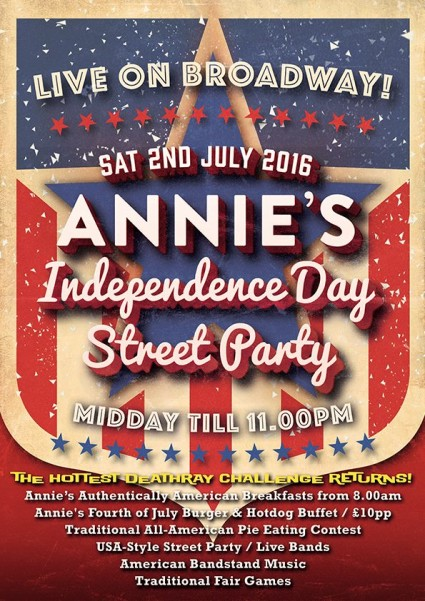 Annie's Independence Day Street Party 2016!