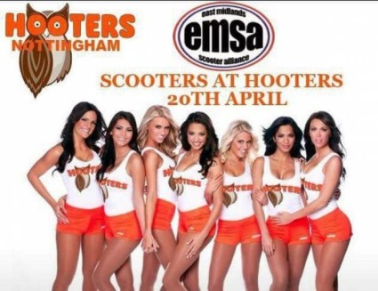 Scooters at Hooters