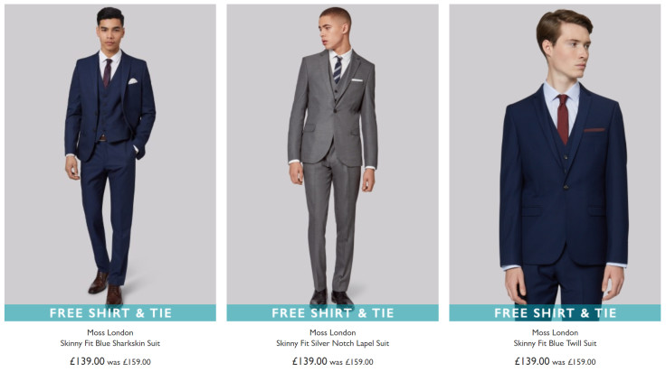 Get a Free Shirt and Tie on Selected Suits