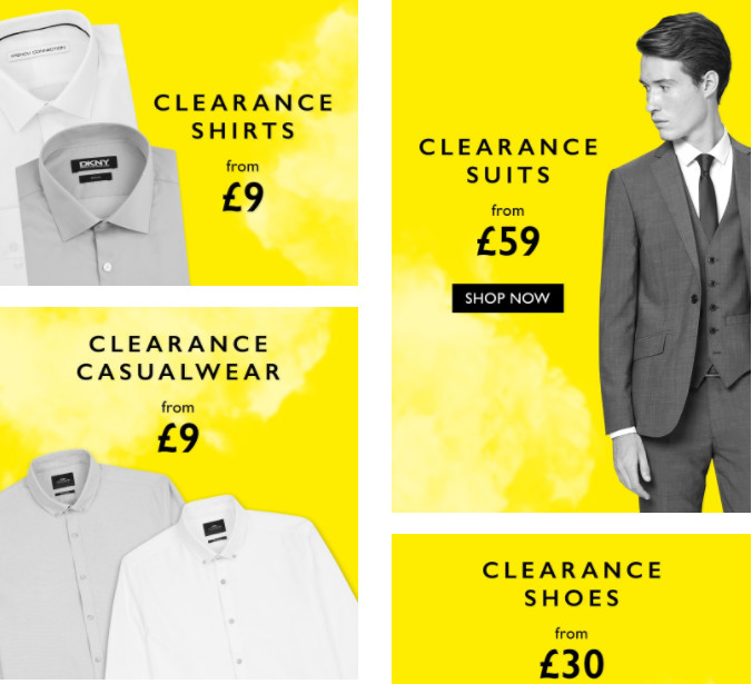 Get up to 70% Off in the Moss Bros Clearance