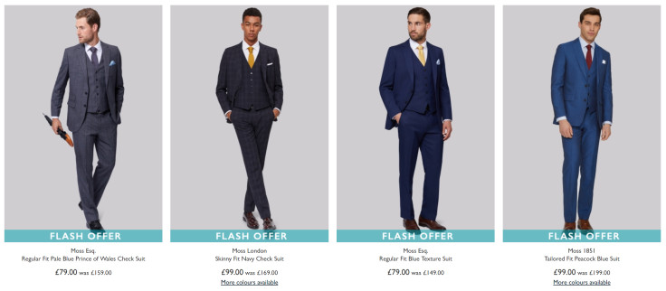 Suits from just £79