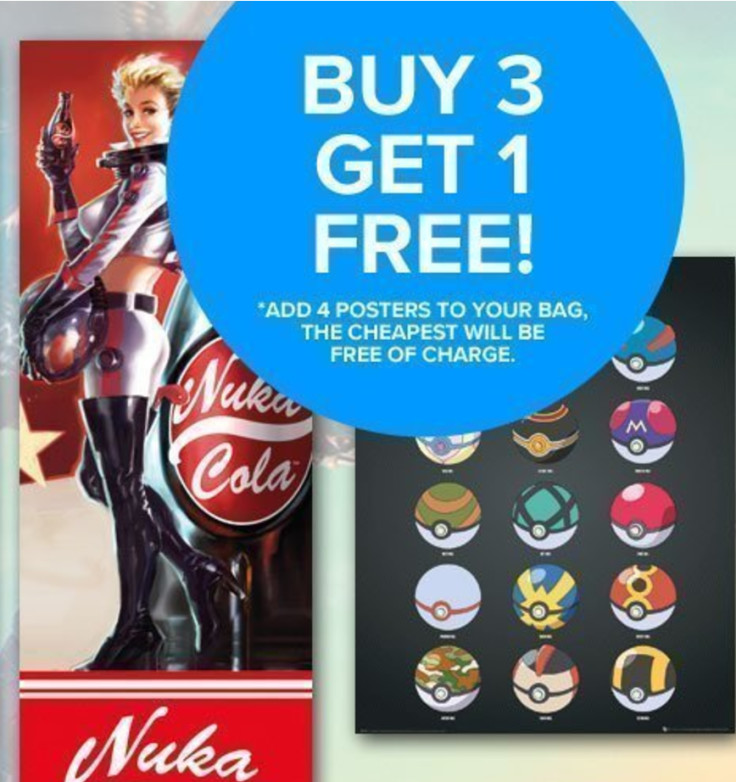 Purchase any 4 posters from our range and receive the cheapest free!