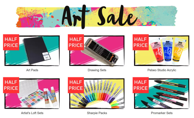 Take a look at our great Art Sale - Many Items HALF PRICE