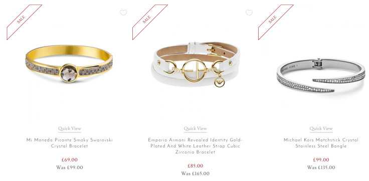 Up to 40% Off Selected Bracelets and Bangles
