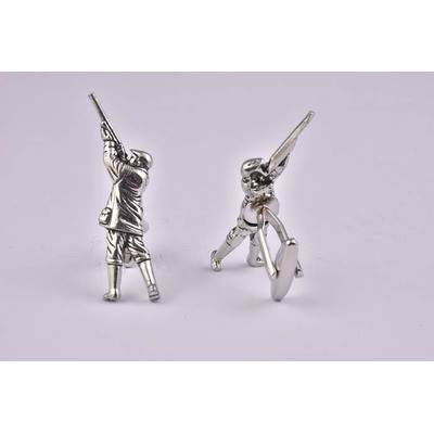 Gun Shooting Pewter Cufflinks - £16.99 was £26.99
