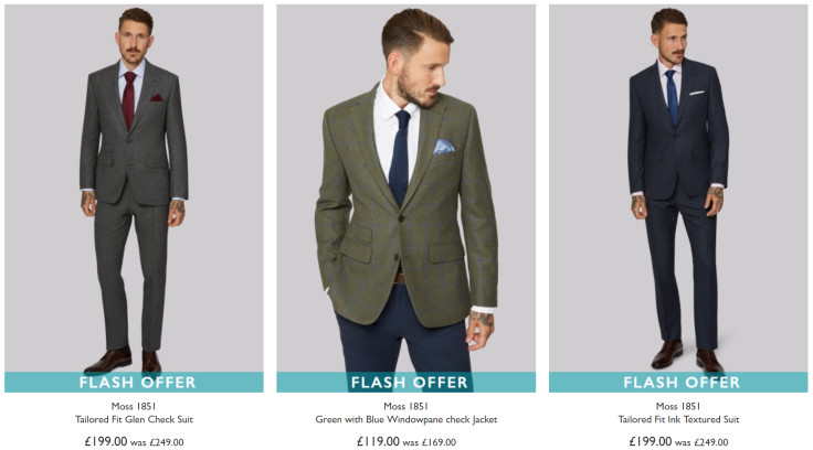FLASH SALE - Get an Extra £50 off selected Moss 1851 Suits & Jackets