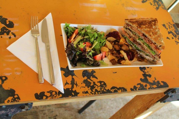 The 'Bentinck Club' - A Classic Club Sandwich, Served with Vegetable Crisps and Side Salad