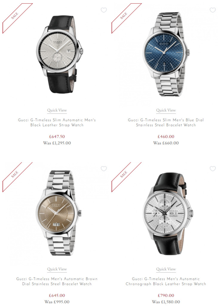 Get up to 50% Off Selected Gucci Watches