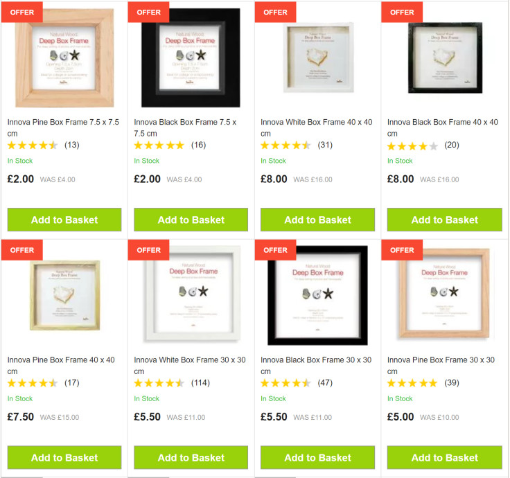 Display your treasured memories with a box frame. Save up to 50%