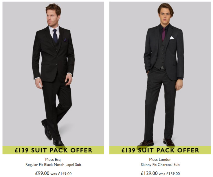 Suit + Extra Trousers + 2 Shirts for only £139