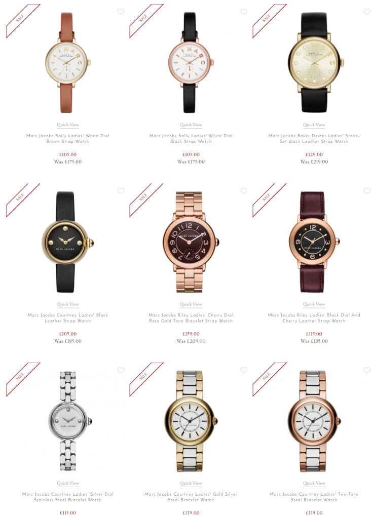 Get up to 40% Off Selected Marc Jacobs Watches