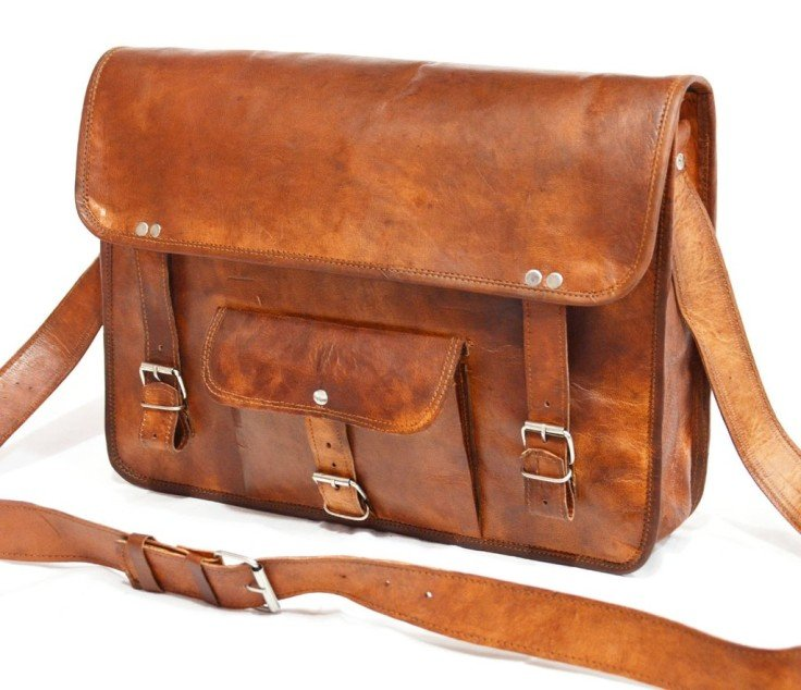 "Vintage Leather Laptop Bag and Briefcase 11"" x 15"" x 4"""