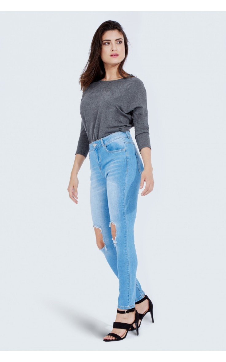 NEW IN: Heidi Busted Knee Skinny Jean now just £17.99