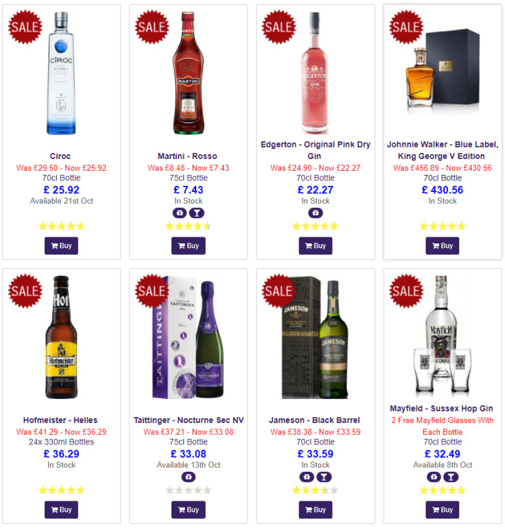 20% off this October on selected drinks