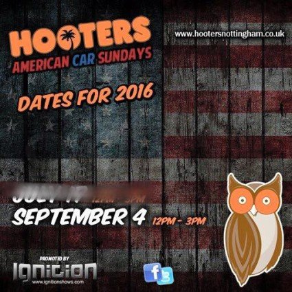 The final Hooters American Car Sunday is this Weekend.!!