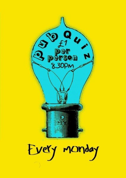 Don't miss the Pub Quiz from 8.30pm today! Only £1 Per Person