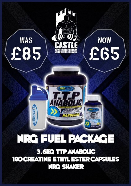 Looking to Bulk up? Check out our new NRG Fuel Package, including TTP and Creatine