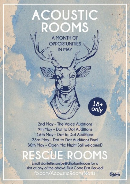 There's lots of exciting things coming up at our Monday night Acoustic Rooms