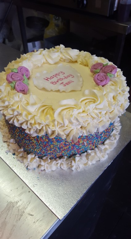 A Beautiful Fresh Cream Cake Fit for a Princess, only at Cake City