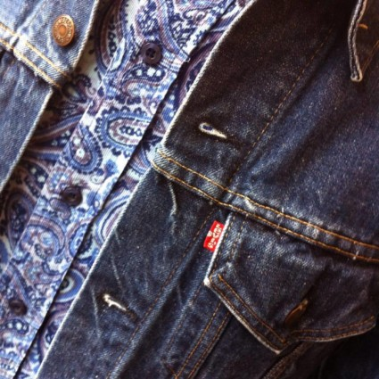 Levi's denim jackets (from £29.99) and a cord paisley shirt (£19.50) - a classic!