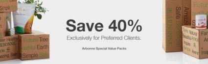 Save 40% on Arbonne Value Packs