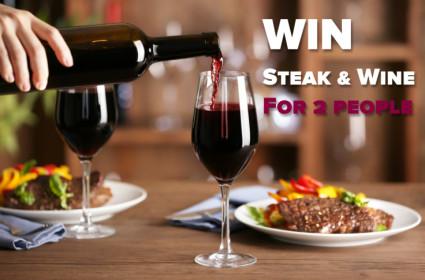 WIN Steak & Wine for 2 People